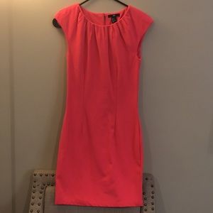 H&M Bright pink fitted dress